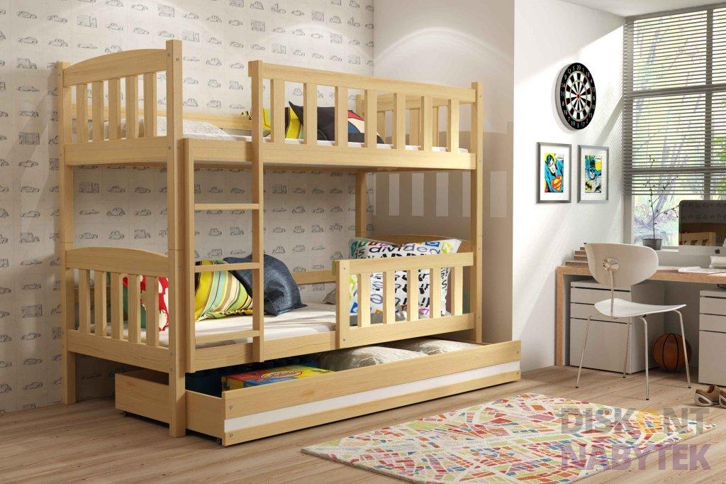 d tsk patrov postel kubus diskontnabytek. Black Bedroom Furniture Sets. Home Design Ideas